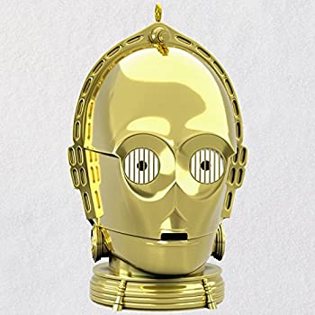 Hallmark Keepsake Christmas Ornament 2018 Year Dated Star Wars C-3PO With Light and Sound