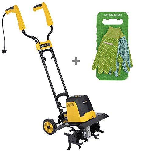 Varo Powerplus Motorhacke Gartenfräse Kultivator 1200 Watt + anndora Gartenset