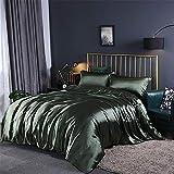 zyhYH 4 Stück Steppdeckenbettwäscheset, Elegantes Modellbettwäscheset mit 2 Kissenbezügen und 1 Bettlaken.Vier Garnfarben 14 2,0 m auf dem Bett