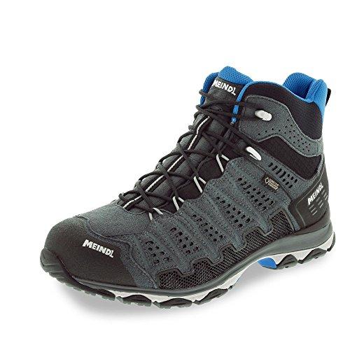 Meindl Zapatos deportivos de hombre para exterior X-SO 70 Mid GTX Surround - antracita, materia superior: cuero, textil, 47EU