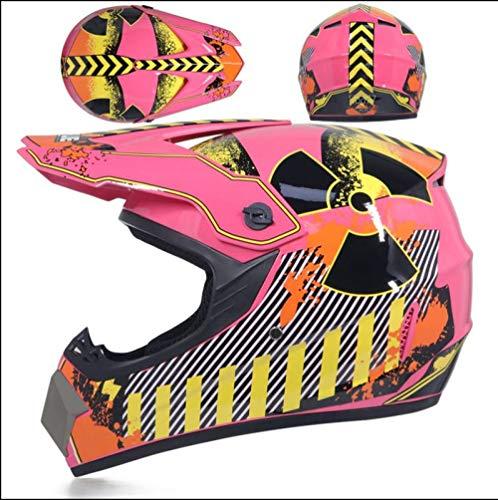 Off-road helm mannelijke veiligheidshelm tiener volwassene karting helm mountainbike motorhelm-Roze radar_L