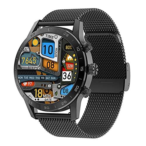 XYZK KK70 PPG ECG Smart Watch Wireless Cargar Bluetooth Call Music Player Contraseña Impermeable Reloj Inteligente para Android iOS,B