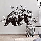 Pegatina vinilica adhesivo siluetas oso en grises decoracion caravanas, autocaravanas,furgonetas, escaparates, habitaciones 90 x 60 cm chpyhome