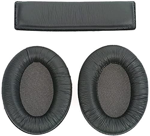 Set di cuscinetti sostitutivi compatibili con cuffie Sennheiser HD180, HD201 and HD201S con cuscinetti auricolari e 1 per il cerchietto