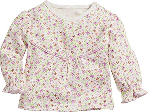 Schnizler Schnizler Baby-Mädchen Sweat-Shirt Interlock Blumen Langarmshirt, Beige (Beige 6), 62