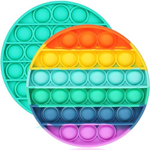 ENTHUR Fidget Toys for Adults and Kids - Bubble Sensory Fidget Toy Push Pop Fidget Toy Squeeze Sensory Toy 2 Packs Circle
