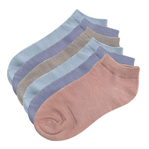 Intim Secret Pack 6 Aleatorios Calcetines para Mujeres, Colores Mixtos, Talla 34-40, Ideales para Zapatillas, Deporte, Trabajo etc.