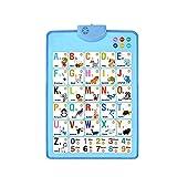 LOOKAa Elektronische interaktive Alphabet-Wandtafeln, sprechende ABC und 123s und Musikposter, das beste Geschenk für Kinder, um die Lernfähigkeit von Kindern zu fördern Gr. One size, blau