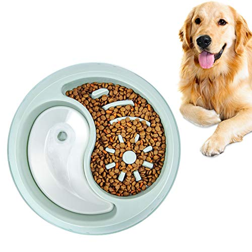 YIYUN Slow Feeder Dog Bowls Fun Feeder Non Slip Interactive Bloat Stop Dog Bowl Anti-Gulping Food and Water Slow Bowl Perfect for Large Medium Pet Dogs