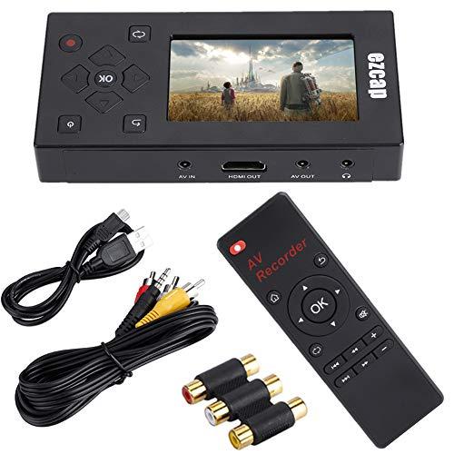 Videoaufnahme-Player, tragbarer 3-Zoll-TFT-Bildschirmrekorder Audio Videokonverter Videoaufnahme-Player, VHS-zu-Digital-Wandler zur Videoaufnahme Videorecordern/VHS-Bändern/Hi8/Camcorder/DVD/TV-Box