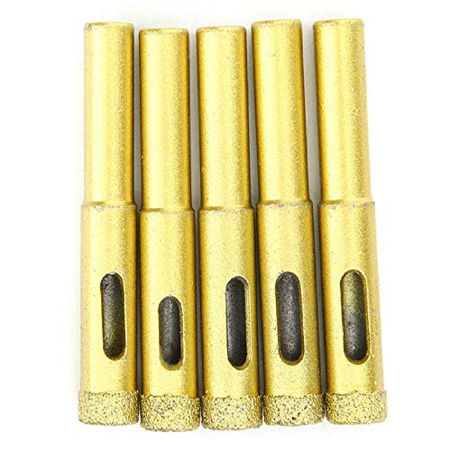 Brocas Para 5pcs 10mm Diamante orificio de diamante taladro oro granito cerámico cerámica hormigón herramienta de perforación de mármol