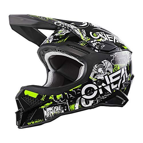 O\'NEAL | Motocross-Helm | Motocross Enduro | Sicherheitsnorm ECE 22.05, ABS Schale, Lüftungsöffnungen für optimale Belüftung & Kühlung | 3SRS Helmet Attack 2.0 | Erwachsene | Schwarz Gelb | Größe M
