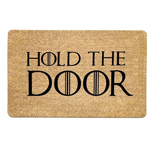 Freahap Felpudo con Diseño Hold The Door Doormat 45 * 75 cm