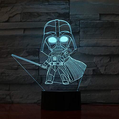 3D Visuelle Illusion Lampe Film Krieger 7 Farbwechsel Nachtlichter für Wohnkultur Schlafzimmer Acryl Led Kunst für Kinder Weihnachten Geburtstagsgeschenk