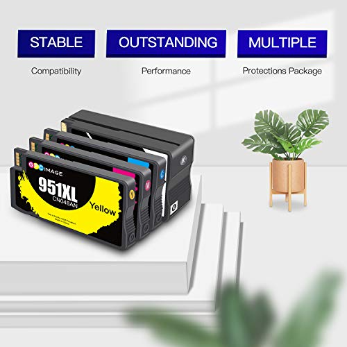 GPC Image Remanufactured Ink Cartridge Replacement for HP 950XL 951XL 950 951 to use with OfficeJet Pro 8600 8610 8615 8100 8620 8630 8640 8625 251dw 271dw 276dw Printer (Black, Cyan, Magenta, Yellow) Photo #7