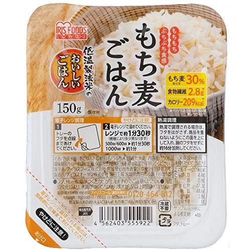 アイリスオーヤマ 低温製法米のおいしいごはん もち麦 パックごはん パックご飯 150g×24個