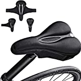 Bike Seat Cover, Gel Padded Bike Seat Cover, Extra Soft Comfort Bike Saddle Cover Cushion, Non-Slip Gel Pad Seat for Road Mountain or Spinning Class Cycling for Women & Men