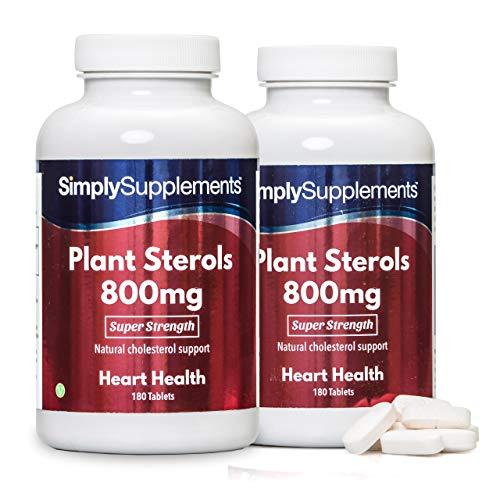 Esteroles Vegetales 800mg - ¡Bote para 1 año! - Apto para veganos - 360 Comprimidos - SimplySupplements