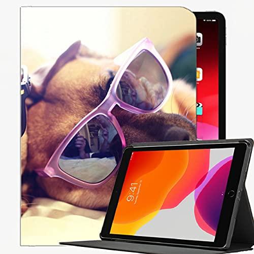 Caso Ajuste iPad Pro 9.7 Pulgadas de 9.7 Pulgadas Sólo Tableta (A1673 / A1674 / A1675), Perros Pareja de Gafas Caja de la cáscara Delgada para iPad Pro 9.7