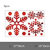 DXAQC Christmas Window Decoration, Snowflake Window Clings Snow Flakes PVC Stickers for Christmas Window Display (B,4pcs)