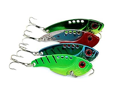 LENPABY 8pcs 5.5cm 11g hard metal vib fishing lures wobbler pike carp trout perch catfish fishing baits by LENPABY
