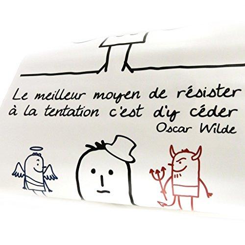 Les Trésors De Lily [L5451 - Planche de Stickers 'Proverbes' Le Meilleur Moyen Tentation - Oscar Wilde (50x70 cm)