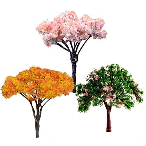 chendongdong New DIY Mini Fleur Arbre Maison de Poupées Jardin Accessoire Paysage Décoration plantes