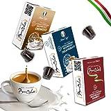 BOCCA DELLA VERITA Café Italiano - MIX TOSCANA 6 Estuches de 10 Cápsulas c/u - Sabores ARABICA, CREMOSO, DESCAFEINADO, Compatible con Cafetera Nespresso, 100% Made in Italy