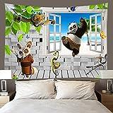 shuimanjinshan Tapiz Panda Tapiz De Pared Decoración De La Habitación Sábana De Picnic Mantel (A-1861) 180X230Cm