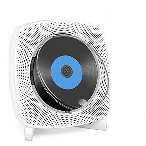 Lettore CD Impianti da Incasso HiFi con Schermo LCD Display Home Audio Audio Boombox FM Radio, Montaggio a Parete Audio Audio Boombox con Coperchio della Polvere, Regali per Bambini Amici