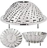 vibgyor products Stainless Steel Steamer Basket for Vegetable/Insert for Pans, Crock Pots
