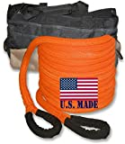 BILLET4X4 U.S. Made 1 inch X 30 ft Safety Orange PolyGuard Kinetic Energy Recovery Rope - Snatch Rope with Heavy-Duty Carry Bag (4x4 Recovery)