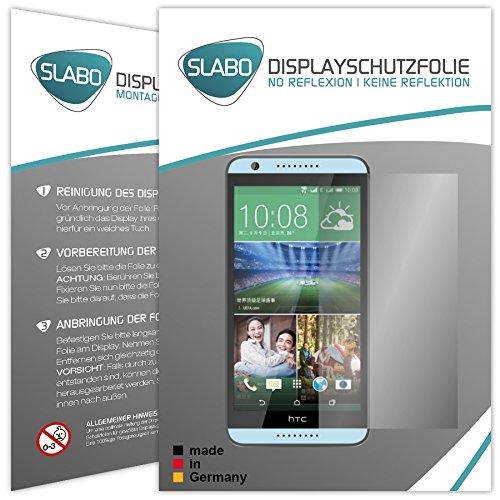 Slabo 2 x Bildschirmschutzfolie HTC Desire 820 Bildschirmschutz Schutzfolie Folie No Reflexion|Keine Reflektion MATT - Entspiegelnd Made IN Germany