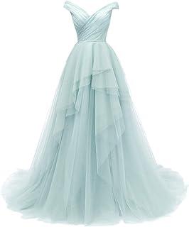 SongSurpriseMall, abito da sposa lungo con spalle scoperte, abito da sera da donna, abito da ballo, abito da sposa