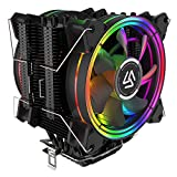 ALSEYE CPU Cooler,120mm CPU Fans with 6 Heatpipes 4 Pin RGB Heatsink Innovative PC Air Cooler Fan Radiator Design for LGA 775 115x 1366 2011 AM2+ AM3+ AM4