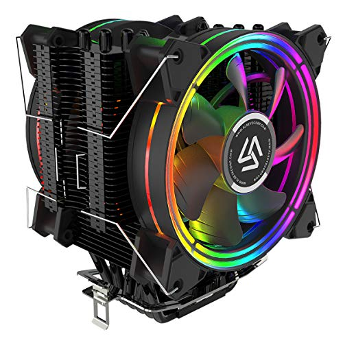 ALSEYE CPU Cooler, 120mm CPU Air Cooler Heatsink 6 Heatpipes RGB Fans Dual CPU Fan PWM 4 Pin Processor Cooler Design for LGA 775 115X 1366 2011 AMD FM1/FM2/AM2/AM2+/AM3/AM3+/AM4