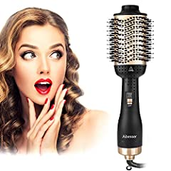 Aibesser föhn, 5 in 1 Upgrade Warme lucht borstel droger Volumizer Styler Styler Hot Air Brush Negatieve Ion Hair Brush Styling Brush Hair Gladder Borstel Hete lucht kam haardroger voor alle styling *