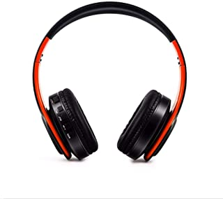 $63 » Bluetooth Headphone Handsfree Headset Super Bass Music Mp3 Player with Microphone for Smartphones PC Black Orange