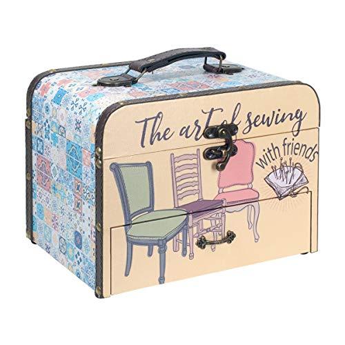 """Caja Costura Decorativa con Set de Costura""""Sewing"""". Costureros. Cajas Multiusos. Regalos Originales.Decoración Hogar. 20 x 25.5 x 18 cm."""