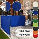 Store Latéral Rétractable - Taille 160x600 ou 180x600 cm et Couleur au Choix, Enroulable,...
