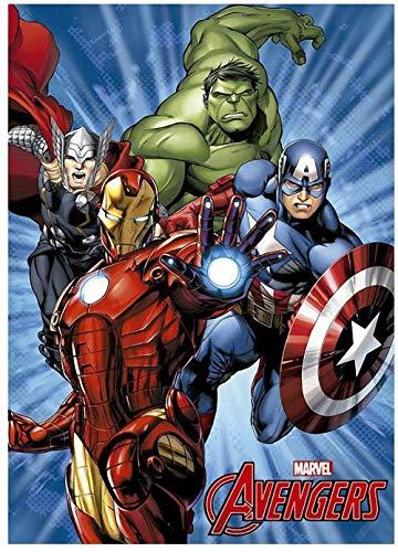 Avengers Manta Polar LOS Vengadores Azul 150x100 cm