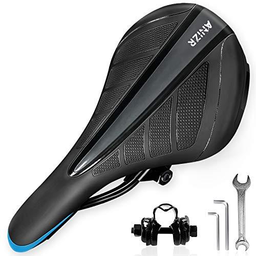 OKBONN Bike Seat,Comfortable Replacement Bicycle Seats for Women Men, Waterproof Bikes Saddle with Memory Foam Soft Bike Seat Cushion for Mountain Bikes,Road Bikes,Fitness Bikes