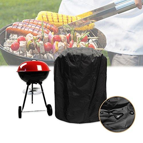 king do way Housse pour Barbecue, Couverture de Barbecue, BBQ Couverture de Gril, Tissu Oxford Étanche Résistant aux UV et aux Larmes, Noir (77 * 58cm)