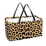 Bolsas de comestibles reutilizables con asas plegables para compras, 50 l, cesta de picnic, olas de mar, (Multicolor 7), Talla única