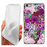 Coque Cover Case Coeur Floral pour Huawei G Play Mini