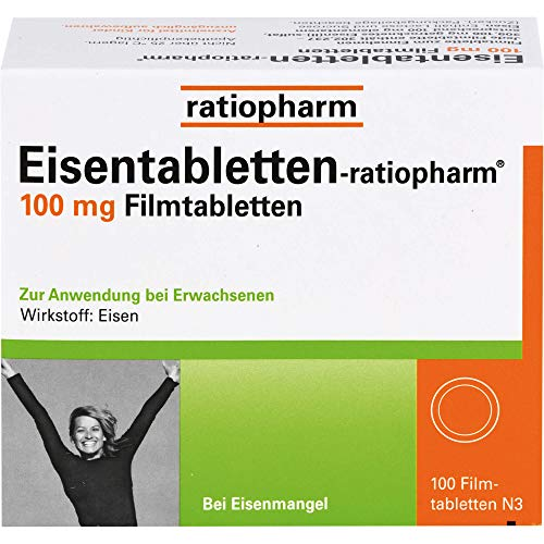 Eisentabletten-ratiopharm 100 mg Filmtabletten, 100 St. Tabletten