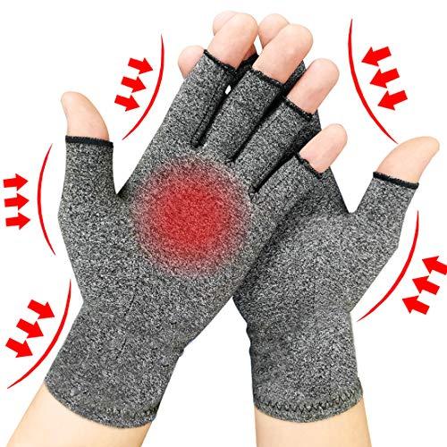2 Pairs Arthritis Gloves for Women & Men - Compression Gloves for Arthritis Pain...
