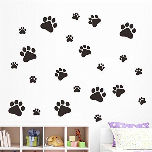 Romote drôle de chien de patte de chat affiche d'impression pour les enfants salle décalcomanie maison Stickers muraux Porte d'armoire de bricolage Gamelle Cuisine Bol décor autocollant de voiture