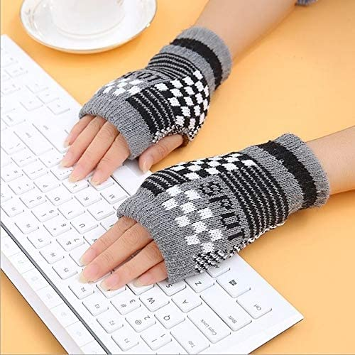 1Pair Spring Women Warmer Women Gloves Winter Fingerless Knit Mittens Button Gloves 2017 New - (Color: 10, Gloves Size: One Size)