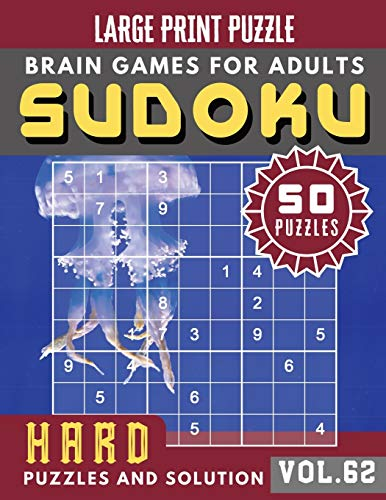 Hard Sudoku Puzzles and Solution: sudoku puzzle books challenging   Sudoku Hard Quiz Books for Expert   Sudoku Maths Book for Adults & Seniors   (Sudoku Brain Games Puzzles Book Large Print Vol.62)